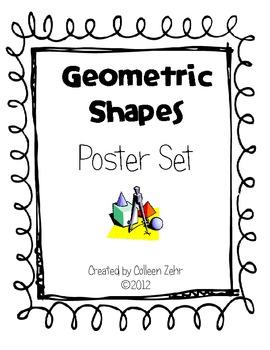 Geometric Shapes Poster Set Geometry 2.G.1, 1.G.1, 1.G.2