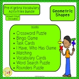 Geometric Shapes Pre-Algebra Bundle