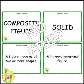 Geometric Shapes Pre-Algebra Vocabulary Cards