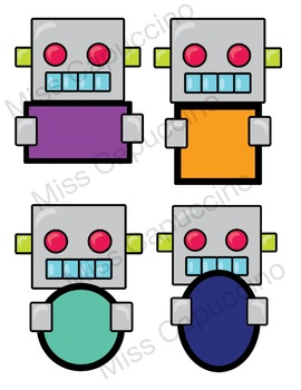 Geometric Shapes - Robot Theme