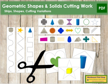 Geometric Shapes & Solids Cutting Strips
