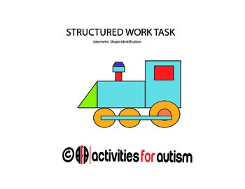 Geometric Shapes Structured Work Task {Perfect for ABA}