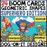 Geometric Shapes BOOM Cards™ Uncover the Picture Superhero
