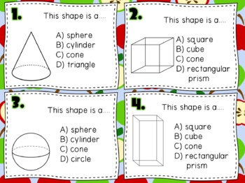 Geometric Shapes Task Cards