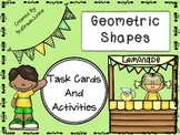 Geometry Task Cards 3D and 2D Shapes - 28 Cards