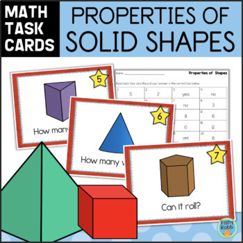 Properties of Geometric Shapes Task Cards