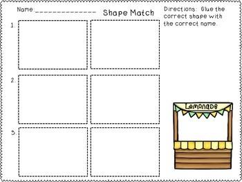 Geometric Shapes Task Cards and Worksheet Activities Bundle Set