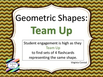 Geometric Shapes:  Team Up
