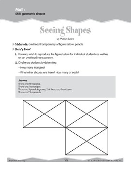 Geometric Shapes (Ten-Minute Activities)