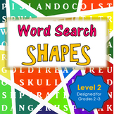 Geometric Shapes Word Search Activity for First and Second Grade