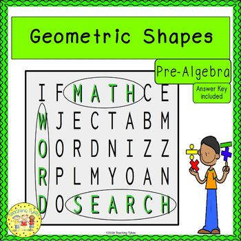 Geometric Shapes Word Search