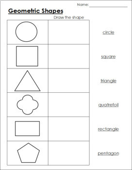 Geometric Shapes: Worksheets
