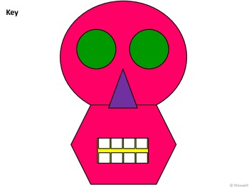 Geometric Skulls for Halloween or Day of the Dead 2D Shapes
