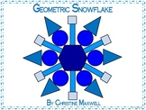 Geometric Snowflake for Winter 2D Shapes