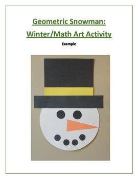 Geometric Snowman: Winter/Math Art Activity