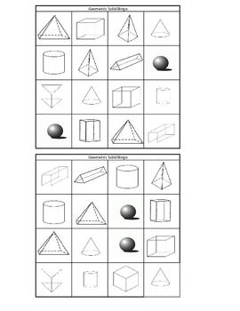 Geometric Solid BINGO