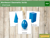 Geometric Solids: 3-Part Cards