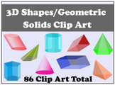 Geometric Solids (3D Shapes) Clip Art