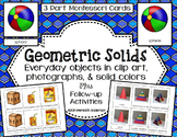 Geometric Solids 3D Shapes Montessori Cards and Activities