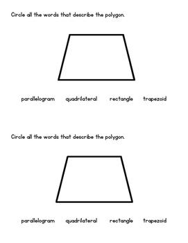 Geometric Solids - 3rd Grade Math Assessment 3.G.1