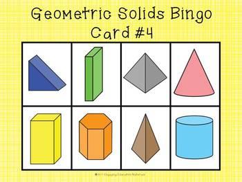 Geometric Solids Bingo