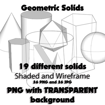 Geometric Solids (Clip Art PNG and JPG)