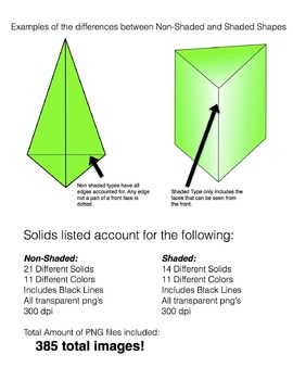 Geometric Solids Clip Art for Commercial Use! ** 3D Shapes **