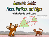 Animated Geometric Solids: Faces, Vertices, and Edges with 11 Foldable Nets!