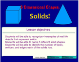 Geometric Solids Interactive Lesson