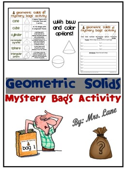 Geometric Solids Mystery Bags Activity
