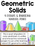 Geometric Solids - Posters and Interactive Notebook Pages for 3D Shapes