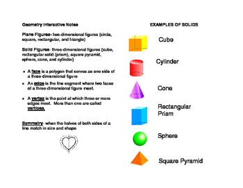 Geometric Solids Practice Pack! Math and Geometry