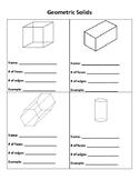 Geometric Solids Properties