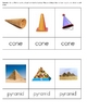 Geometric Solids- Real Life Objects: 3 Part Montessori Cards