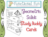 Geometric Solids Study Buddy Cards