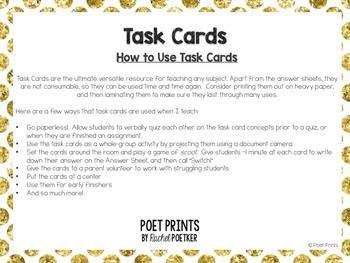 Geometric Solids Task Cards Math Center