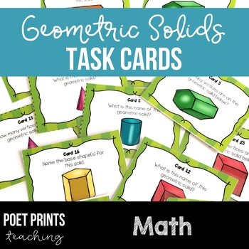Geometric Solids Task Cards, Math Center