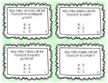 Geometric Solids Task Cards
