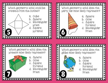 Geometric Solids Task Cards