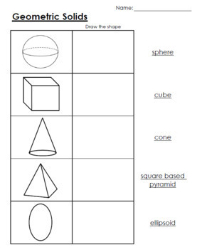 Geometric Solids: Worksheets
