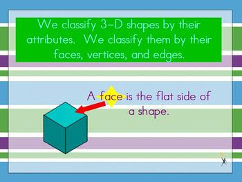 Geometric Solids and their Attributes Activinspire flipchart