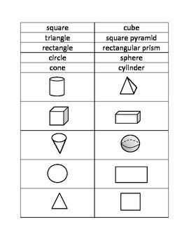 Geometric Solids vs. Plane Figures Sort (self-checking)