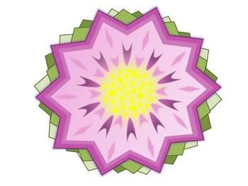 Geometric Spring Flower