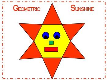 Geometric Sunshine 2D Shapes