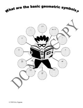 Geometric Symbols - Graphic Organizer