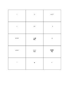 Geometric Figures, Geometric Symbols Match Activity