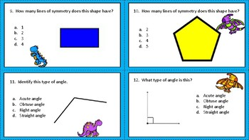 Geometric Terms Task Cards
