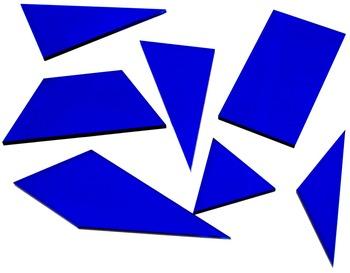 "Geometric Tiles: 1/8"" acrylic, Class set of 10 Van Hiele T"