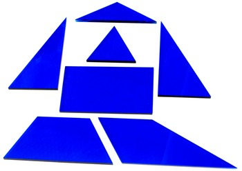 "Geometric Tiles: 1/8"" acrylic, Class set of 30 Van Hiele Tiles, Free Curriculum"