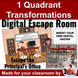 Geometric Transformations   1st Quadrant   Digital Math Activities   Escape Room